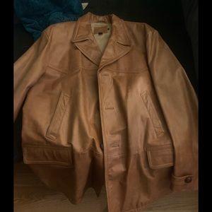 J.Crew 3/4 leather vintage jacket